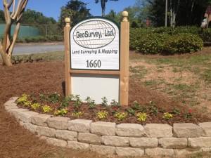 GeoSurvey Company Sign